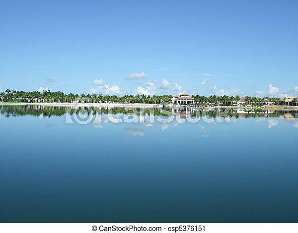 víz, florida, tengerpart táj - csp5376151