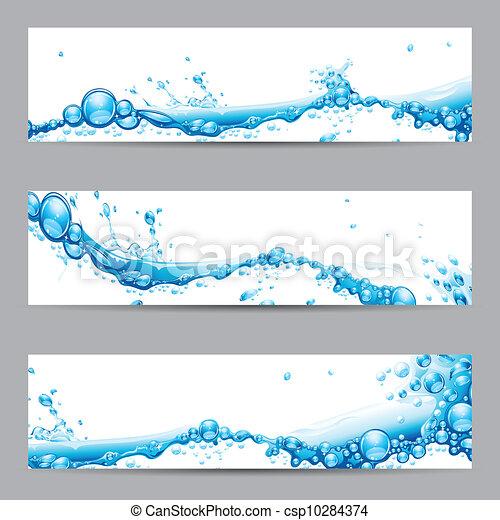 víz, loccsanás, transzparens - csp10284374