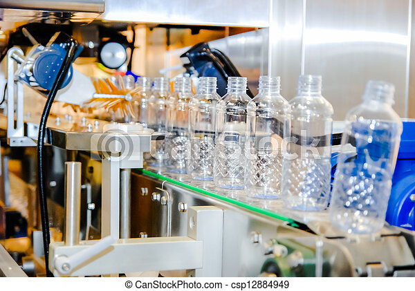 víz, palack berendezés - csp12884949