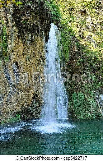 vízesés, erdő - csp5422717