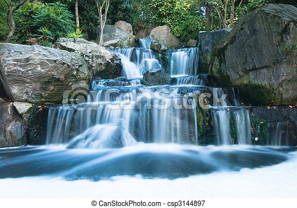 vízesés, keleti, táj - csp3144897