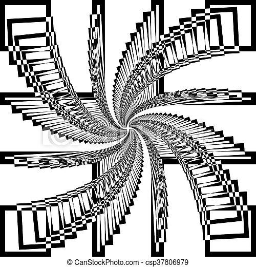 Escaleras abstractas del vórtice - csp37806979