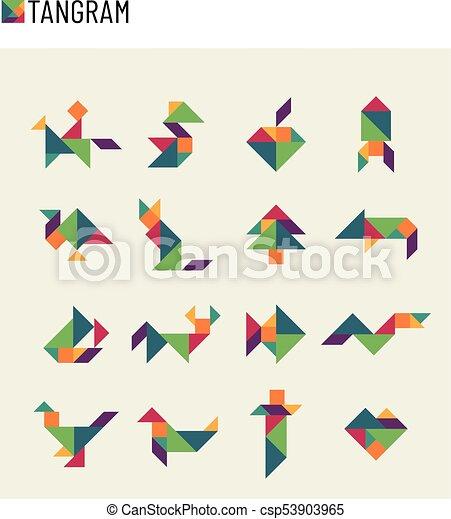 53782af2b Výstřižek, Dát, Tangram, Hádanka, Děti, Mozek, Hra, Vektor, Přetvoření