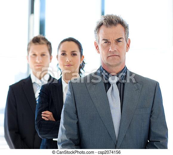 vůdčí, mužstvo, váný povolání, obchodník - csp2074156