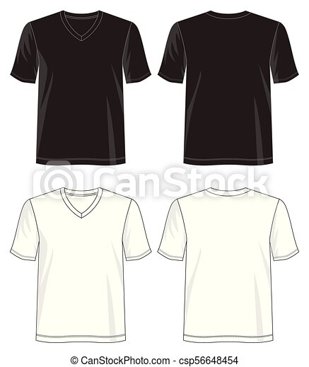 V - neck 05.eps. Design vector t shirt template collection for t ...