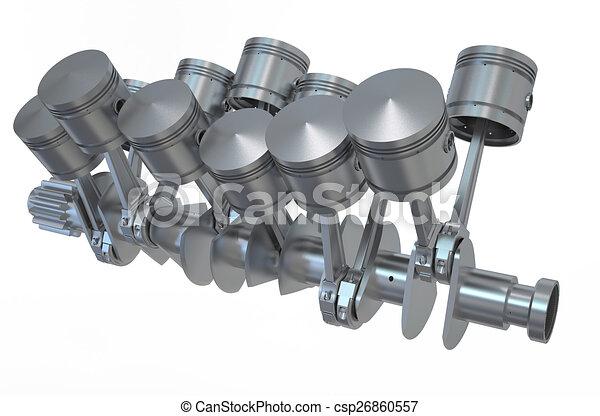 V Engine Pistons Stock Illustrations Csp on Inline V6 Engine Drawings