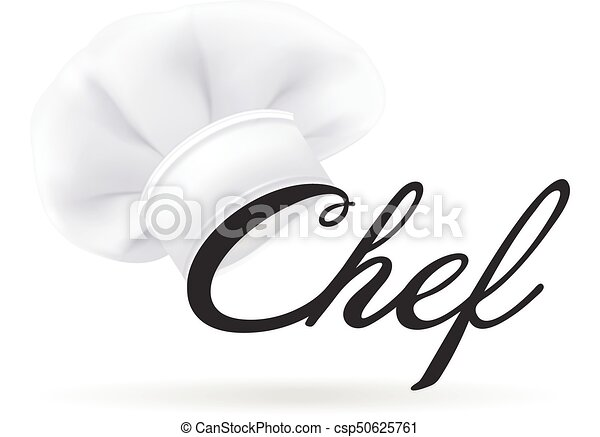 vařit, illustration., moderní, osamocený, vrchní kuchař, grafické pozadí., vektor, hat., photorealistic, klobouk, neposkvrněný - csp50625761