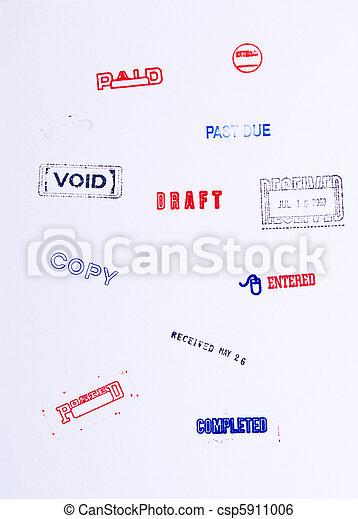 Los sellos de goma anulan el borrador pagado - csp5911006
