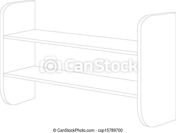 Una estantería vacía de madera - csp15789700