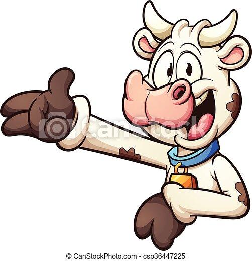 Vaca de dibujos animados - csp36447225