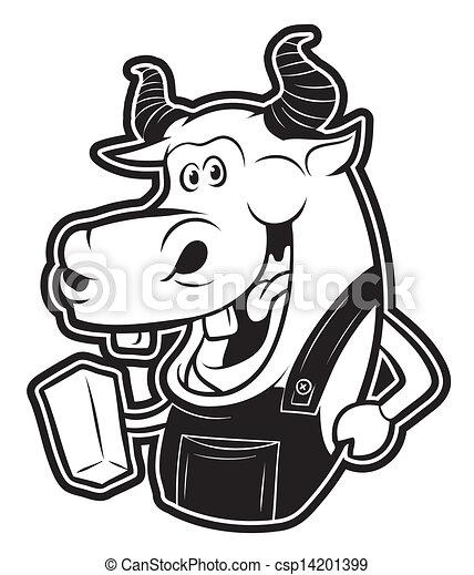 Vaca y leche - csp14201399