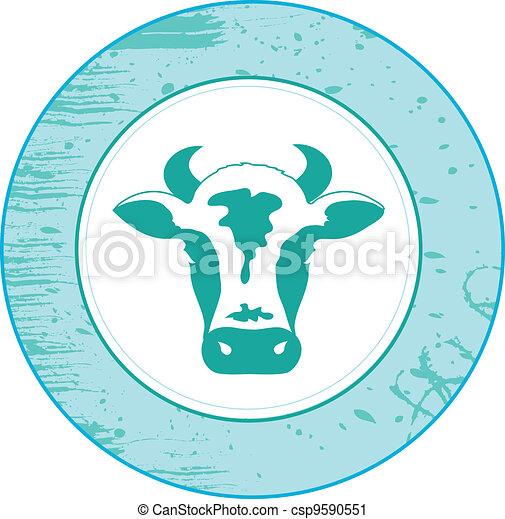 Icon de vaca - csp9590551