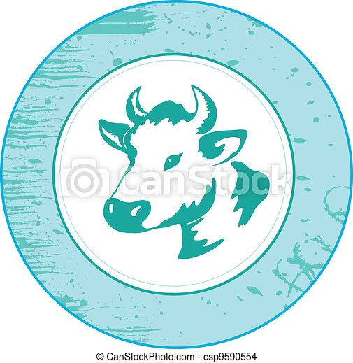 Icon de vaca - csp9590554