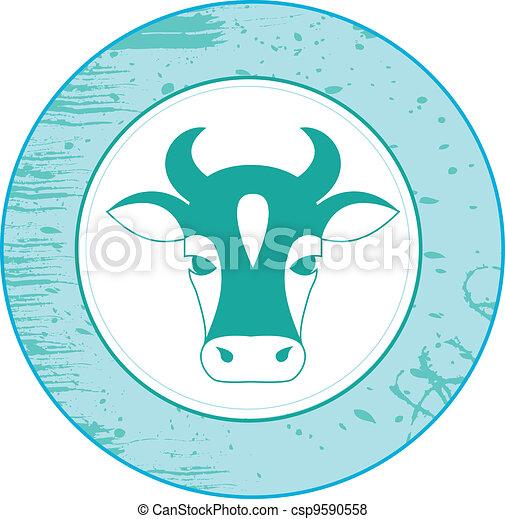 Icon de vaca - csp9590558