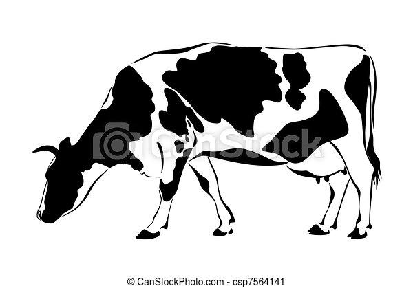 Vaca silueta - csp7564141