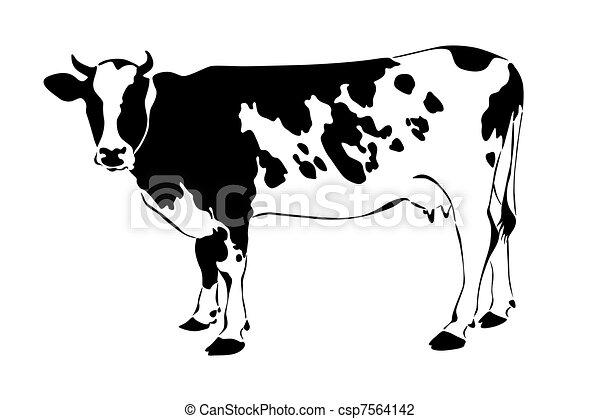 Vaca silueta - csp7564142