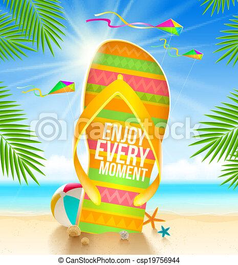 vacaciones del verano, ilustración - csp19756944