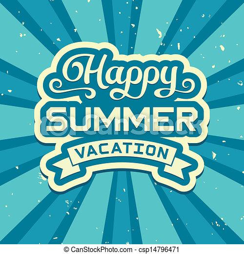 Vacaciones de verano - csp14796471