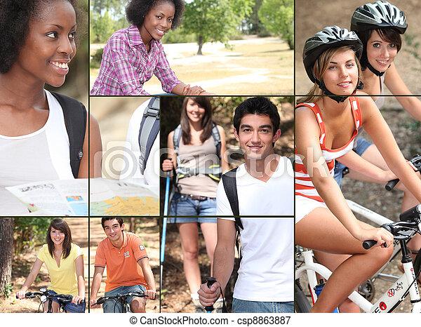 Vacaciones y deportes - csp8863887