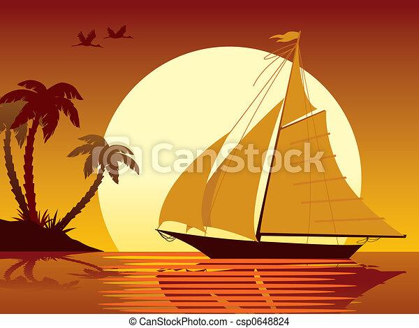 vacaciones, navegación - csp0648824