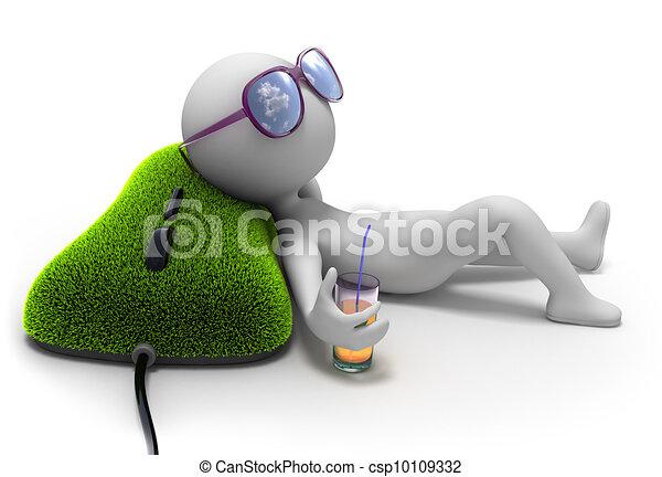 Soñando con vacaciones - csp10109332