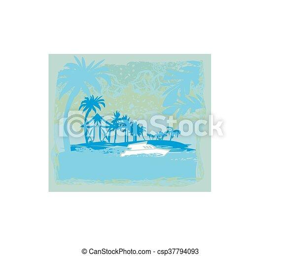Vacaciones tropicales - csp37794093