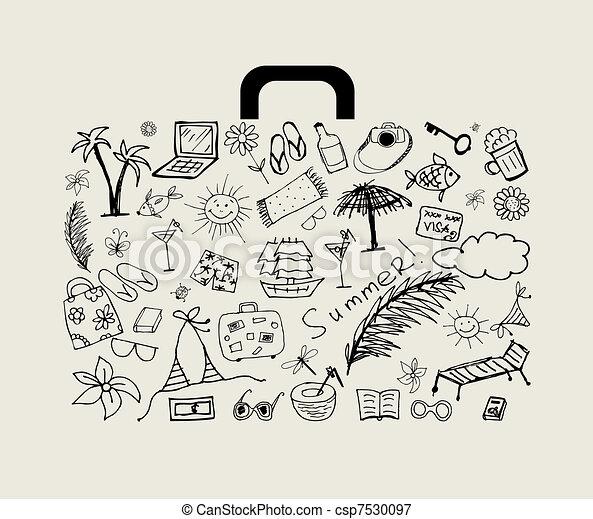 Vacances t conception ton valise - Dessin de valise ...