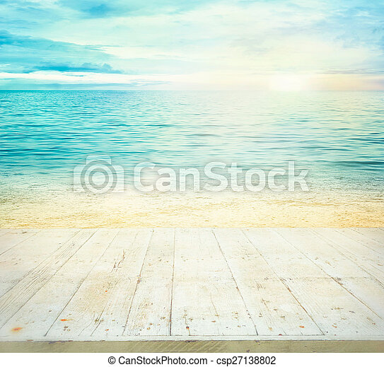 vacances été, fond - csp27138802