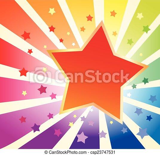 vacances, étoile, fond - csp23747531