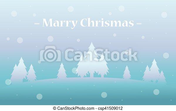 vacances, hiver arbre, paysage, noël - csp41509012