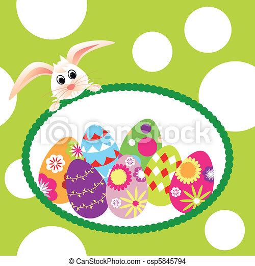 vacances, paques, printemps, papier peint - csp5845794