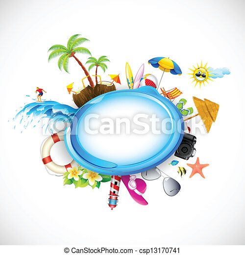 vacances plage, mer - csp13170741