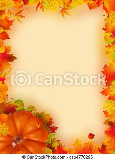 vacances, thanksgiving, frame. - csp4770295