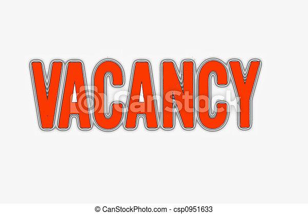 vacancy sign - csp0951633