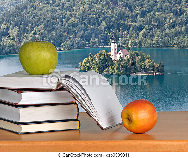 Vacation at Bled lake - csp9509311