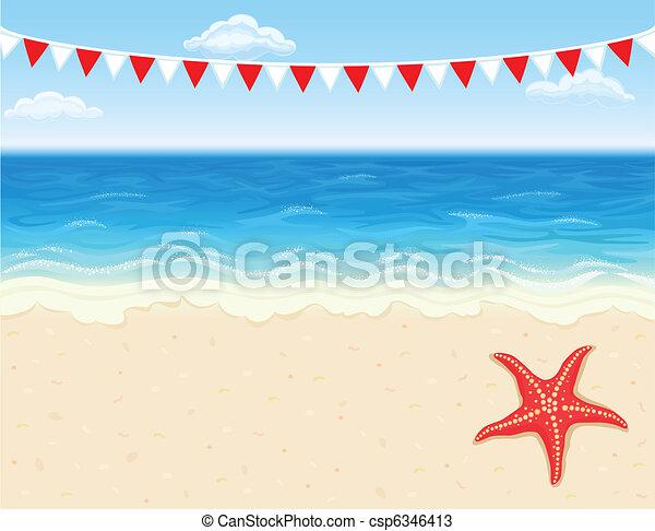 Vacation at tropical beach - csp6346413