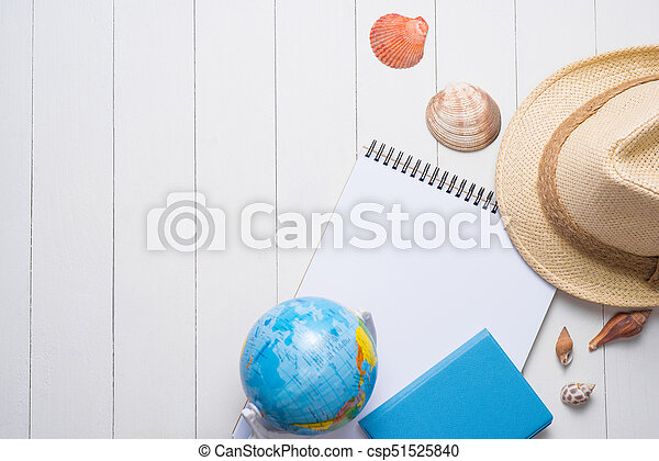 Vacation concept. Planning items for vacation trip. - csp51525840