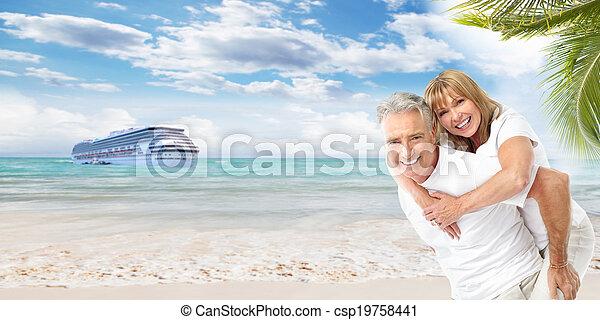 vacation., couples aînés - csp19758441