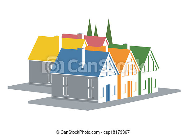 Vacation Homes Icon An Illustration Of Colorful Clip