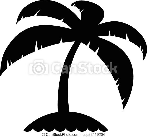 vacation icon of a palm tree on an island travel and vector rh canstockphoto com island victoria bank jamaica island victoria hislop