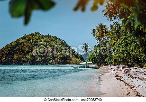Vacation On Beautiful Tropical Island Relax Chill Getaway Enjoy Summer In El Nido Palawan Island Philippines