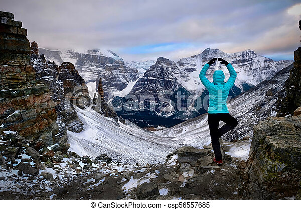 Vacation travel in Banff National Park. - csp56557685