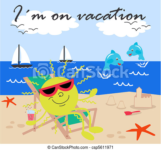 i m on vacation rh canstockphoto com vacation clipart images vacation clipart