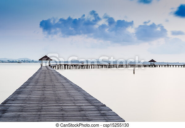 Vacations And Tourism Concept. Tropic Paradise. Jetty - csp15255130