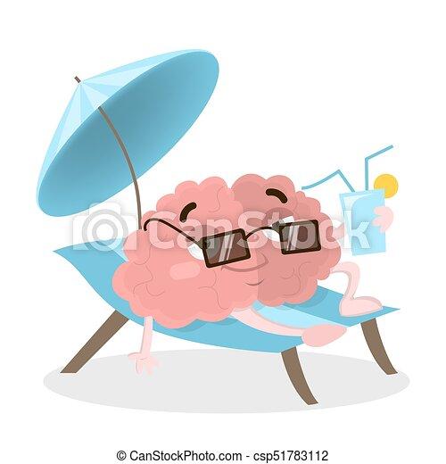 Gehirn im Urlaub. - csp51783112