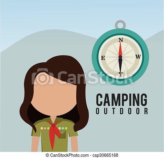 Campingreisen und Ferien. - csp30665168