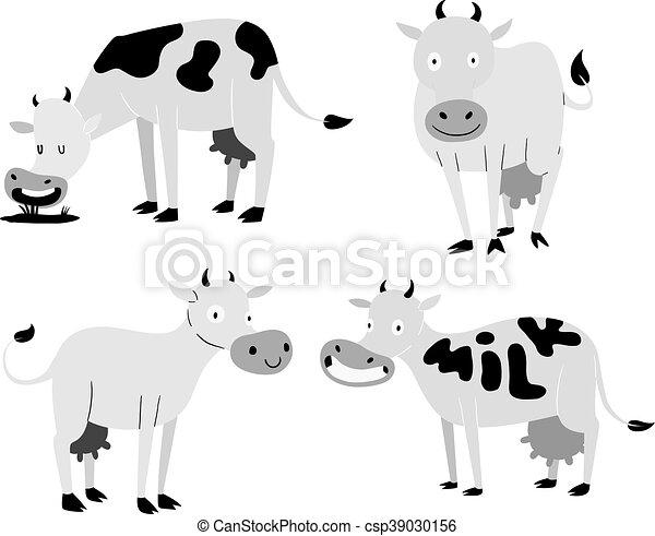 Vache Dessin Anime Caracteres Mignon Conjugal Couleurs