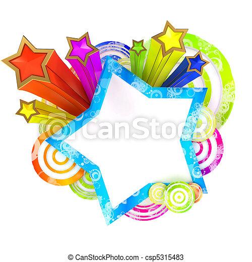 vacker, färgad, stripes, disko, stjärnor, baner - csp5315483