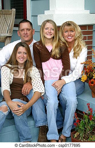 vacker, familj, tillsammans - csp0177695