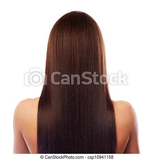 vacker, hår, länge - csp10941158